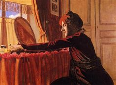 Madame Felix Vallotton at Her Dressing Table - Felix Vallotton