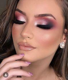 Makeup For Black Skin, Peach Makeup, Bold Makeup Looks, Glam Makeup Look, Glamour Makeup, Purple Makeup, Sexy Makeup, Flawless Makeup, Gorgeous Makeup