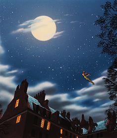 Maison - ciel - nuit - image animée