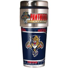 Great American Products Florida Panthers Travel Tumbler w/ Metallic Graphics and Team Logo