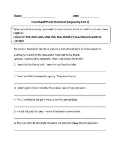 Worksheet Transition Words Worksheet words teaching and transition worksheet on pinterest