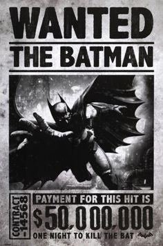 Batman Arkham Origins - Wanted Poster bei AllPosters.de