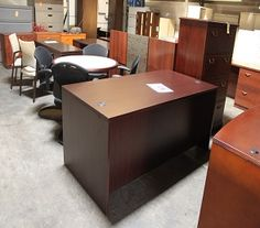 Desks are flying out of our Warehouse! NEW shipments have arrived and we have to make room. NO reasonable offer will be refused. Laminate desks start at $100 Wood Desks start at $175 Refer to AD#072515B when calling our showroom. Come visit our showroom and 2 warehouses to view all of our desks, files, chairs, lobby furniture, cubicles, and more! Hours of operation: Monday-Friday 8:30-5 Saturday 10-2 http://furniturebygeorge.com/used-office-furniture/used-office-desks