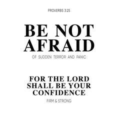 Be not afraid of sudden terror and panic... #GHA www.godsheart.nl