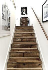 barn wood  stairs
