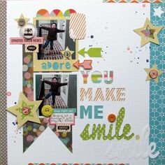 Guest designer Ashley Horton created this fun everyday layout with the Midway collection
