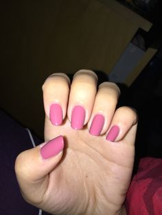 Rose-colored nails