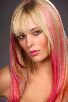Pink hair extensions, gorgeous.