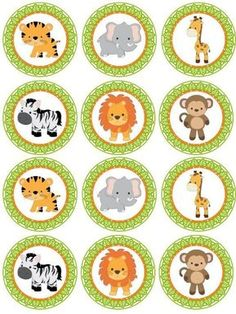 Excited to share the latest addition to my shop: SAFARI Digital cupcake Topper; Jungle Animal Cupcake Toppers for Parties; Safari Cupcakes, Animal Cupcakes, Ladybug Cupcakes, Kitty Cupcakes, Snowman Cupcakes, Giant Cupcakes, Safari Party, Safari Theme, Baby Zoo
