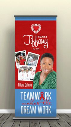 Team Tiffany Retractable Banner Designed & Printed by AlphaGraphics Sugar Land Business Office Decor, Retractable Banner, Sugar Land, Banner Design, Banners, Tiffany, Display, Printed, Poster