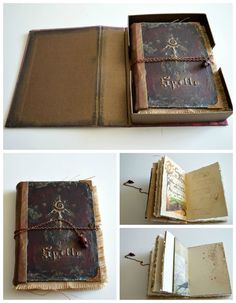 Handmade Spellbook with Box Journal Book of Shadows by JournalShop