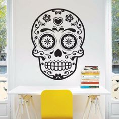 My vinilo. vinilos decorativos. decoración de pared. papel tapiz. Decohunter. Fun and graphics. Sugar skull. Encuentra donde comprar este producto en Colombia