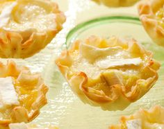 NYT Cooking: The classic pairing of Brie and apples works beautifully in this recipe for bite-size appetizers that came to The Times in 2010 from Eating Well magazine. Premade mini phyllo cups (available in the freezer section of your grocery store) make it easy to make an elegant hors d'oeuvre in about 30 minutes. The cups do not need to be defrosted before filling and baking.