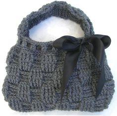 Crochet Pattern for HANDBAG Bag Clutch Waffle Stitch Purse. $3.00, via Etsy.