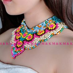 Hot Selling 2013 Multi-ethnic Women's Multicolor Wood Beads Collar Necklace,Fashion Statement Choker Hand Made Clothes Jewelry $6.99
