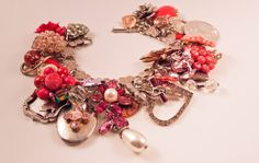 My sweetheart repurposed charm bracelet   soo many charms to look at