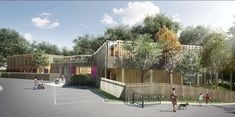 pH+ architects plans xylophone building in london for children with cerebral palsy Public Architecture, Architecture Design, London With Kids, Planning Permission, Cerebral Palsy, Green Building, Parenting Hacks, Playground, Skyscraper