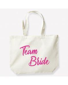 """Sac EVJF """"Team bride"""" pour l'équipe de la mariée. Team Bride, Reusable Tote Bags, Unique Weddings"""