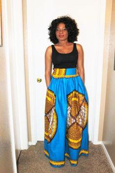 Tomi Adensecret African print Ankara maxi Skirt  #styletips #ootn #blackgirlskillingit #ankarastyles #melanin #africanfashion #picoftheday #hairstylist #love #africanfashiondesigners