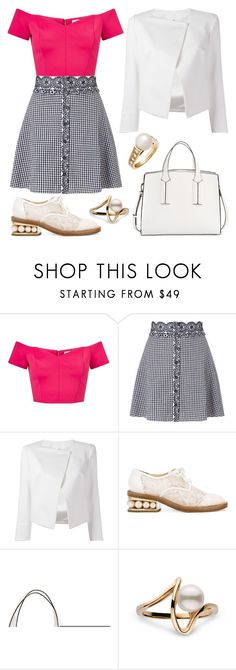 """The Point Is"" by staysaneinsideinsanity ❤ liked on Polyvore featuring Miss Selfridge, Plein Sud Jeanius, Nicholas Kirkwood, French Connection and Cartier"