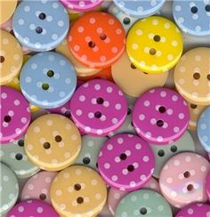 buttons...have no idea what I'll do with them but they are super cute!