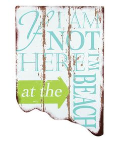 Loving this 'At the Beach' Sign on #zulily! #zulilyfinds