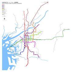 Die städtische #U-Bahn von #Osaka ist ein unverzichtbarer Bestandteil des Transportwesens im Großraum Osaka geworden und das Hauptmassenverkehrsmittel in der Region Kansai, Japan. Das elektrische U-Bahnsystem befährt Osaka sowie die nahegelegenen Städte Kadoma, Higashiosaka, Sakai, Moriguchi, Yao und Suita in der Region Kansai. Derzeit besteht es aus acht Linien und einem Peoplemover, umfasst 133 Haltestellen und eine Gesamtgleisstrecke von 137,8 km.