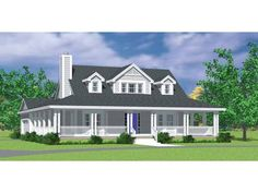Farmhouse Style 2 story 3 bedrooms(s) House Plan with 1673 total square feet and 2 Full Bathroom(s) from Dream Home Source House Plans