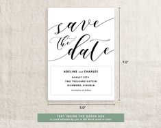 Wedding Invitation Save the Date Template Digital Download | Etsy Save The Date Templates, Page Template, Text Color, Wedding Details, Wedding Stuff, Texts, Wedding Invitations, Dating, Digital