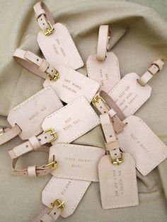 Luggage Tags -wedding favours for people to come visit