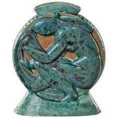 Edouard Cazaux Rare Vase Circa 1930