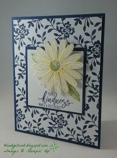 Windy's Wonderful Creations: Daisies Of Kindness, Stampin' Up!, Daisy Delight, Daisy punch, Thoughtful Branches, Floral Boutique DSP