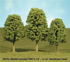 Bachmann SceneScapes 5-1/2 to 6-1/2 Inch Deciduous Trees, Pkg. of 2
