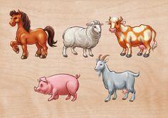 Животные на ферме (Рисунки и иллюстрации) - фри-лансер Вера Север [VivaVera].