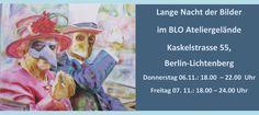 7. Lange Nacht der Bilder 2014: Kunst in Berlin entdecken! Die Blo-Ateliers waren bereits bei der Entstehung im Jahr 2008 dabei und sind dieser Tradition treu geblieben. Dieses Jahr verwöhnen Sie das Herz der Kunstinteressierten mit Jazz und Wein, Atelierführungen, Workshops und ausgewählten Kunst-Schnäppchen.