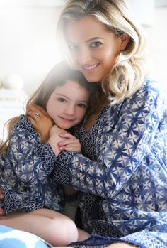 Shopbop's Fashion Director, Eleanor Strauss, and daughter Honor wear exclusive JOIE matching Monserrat Tunics - the perfect gift for Mother's Day