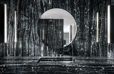 Black marble bathroom in an Algarve home by Cristina Jorge de Carvalho   Photo by Francisco Almeida Dias