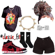 Thick Girls Outfits, Baddie Outfits Casual, Swag Outfits For Girls, Teenage Girl Outfits, Cute Swag Outfits, Girls Fashion Clothes, Dope Outfits, Teen Fashion Outfits, Simple Outfits