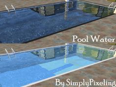 The Sims 4 CC || SimplyPixeling || 2 New Pool Waters