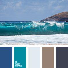 azul oscuro, color arcilla, color azul marino, color azul océano, color del agua, color esmeralda, colores marinos, combinación de colores, marrón, marrón grisáceo, matices del azul oscuro, matices marinos, paleta suave, selección de la combinación de colores.