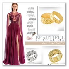 """nuritdesignjewelry 48/50"" by umay-cdxc ❤ liked on Polyvore featuring Zuhair Murad, 7 For All Mankind and Ciaté"