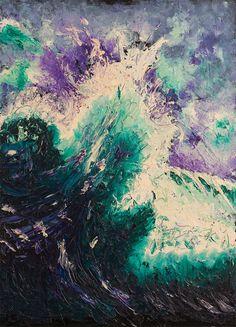 Be a wave - Olio su tela e smalto - 50×70 cm - 2013