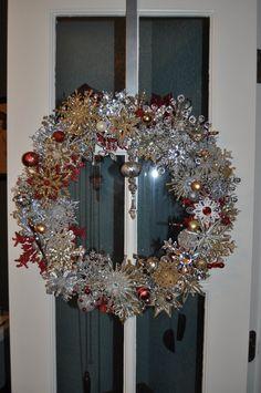 Stunning Acrylic Snowflake Wreath by ItsAKimThing on Etsy, $225.00