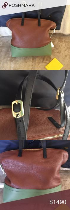 976c0afc0aa0 NEW Fendi leather color block bag Brand New Leather Fendi Shoulder Bag  Color  Color Block