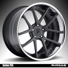 Nutek Forged Wheels Series 755 Concave texture gunmetal