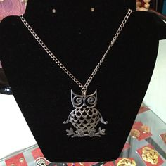 Pewter Owl Necklace Reed And Barton