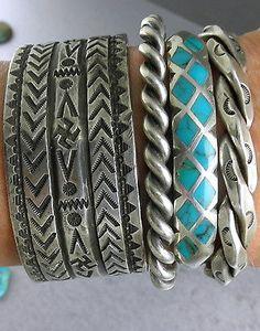 Old-Dead-Pawn-034-Zuni-Diamond-034-Inlay-Spiderweb-Turquoise-Cuff-Bracelet