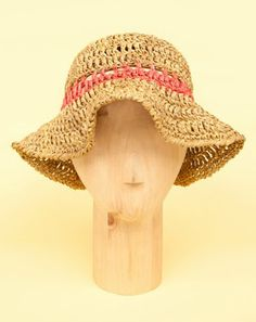 Las Teje y Maneje: Raffia crochet hat for summer
