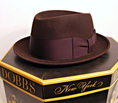 Mens vintage Dobbs Fifth Ave Fedora in box by ScribbleFitz on Etsy, $80.00