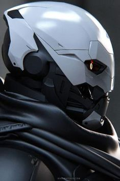 Destiny: Exo 01 - by Mike Jensen hopeful universe Robot Design, Helmet Design, Mask Design, Robot Concept Art, Armor Concept, Character Concept, Character Art, Futuristic Armour, Futuristic Helmet